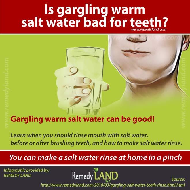 gargling salt water for teeth