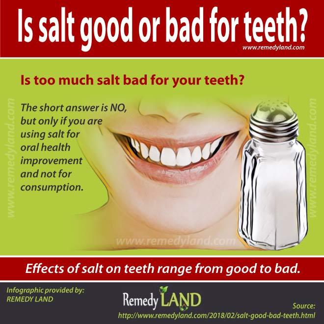 salt good bad teeth